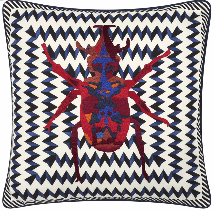 Christian Lacroix Beetle Waves Cushion - Barnbury
