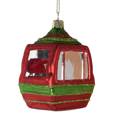 Glass Ski Gondola Christmas bauble - Barnbury