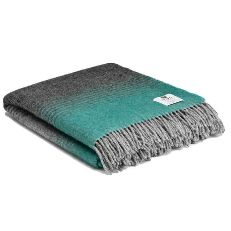 Pure Wool Vail Throw - Mint - Barnbury