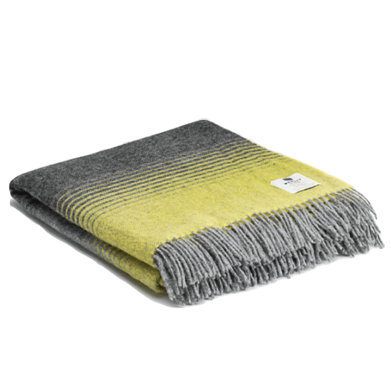 Pure Wool Vail Throw - Yellow - Mint