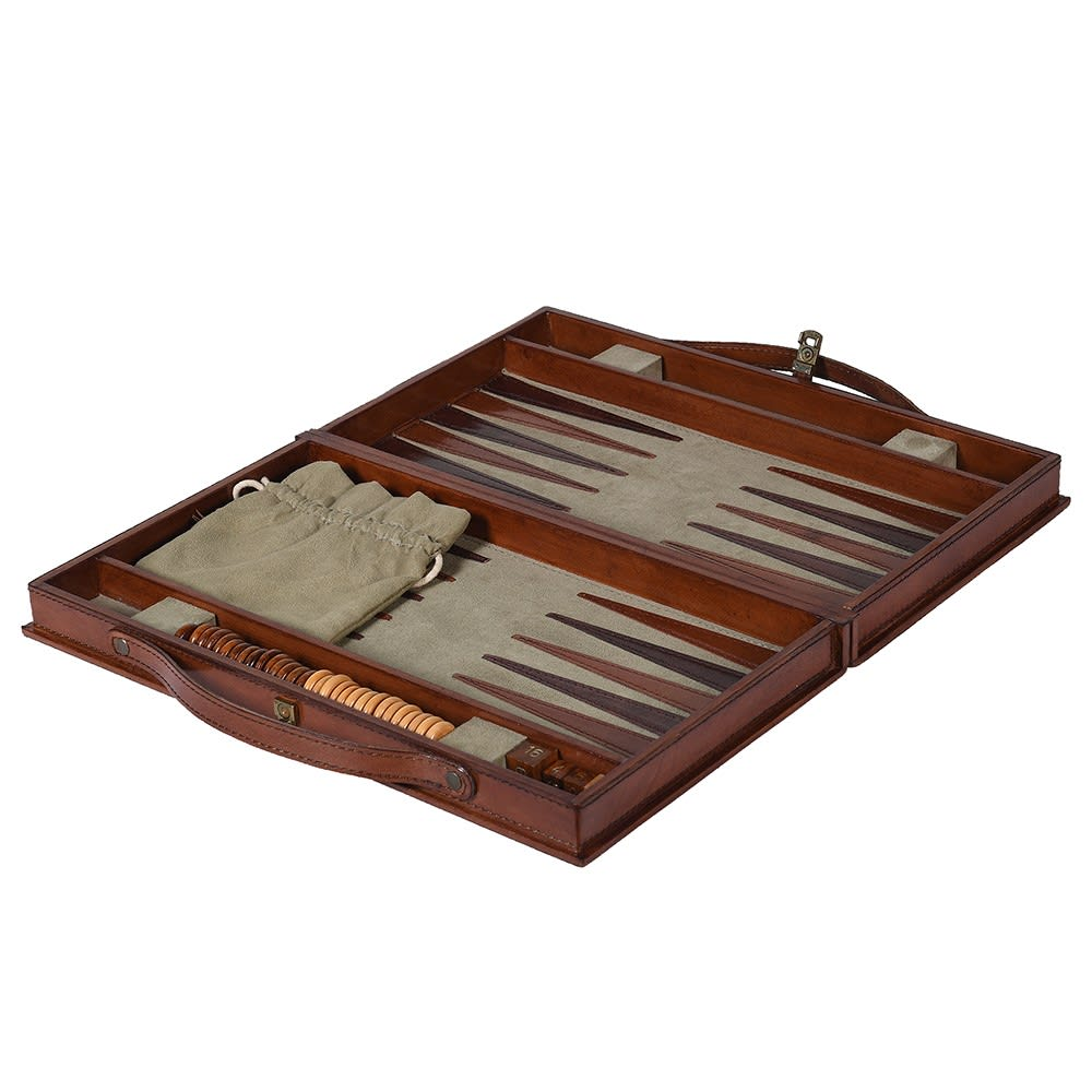 Bloomsbury Leather Backgammon Set - Barnbury