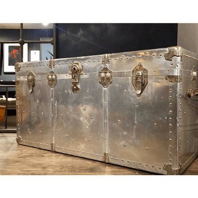Vintage Aluminium Aviation Trunk - Barnbury