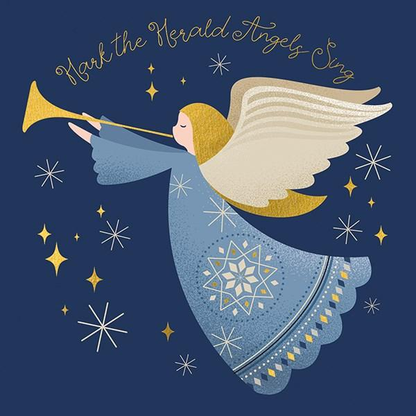 6 Charity Christmas Cards - Hark The Herald Angels Sing