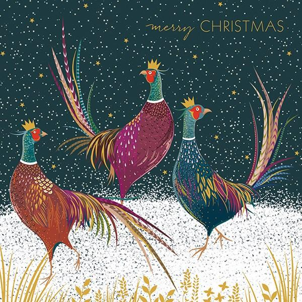 8 Luxury Boxed Christmas Cards - Pheasants