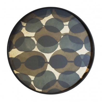 Layered Dots Round Tray - Barnbury