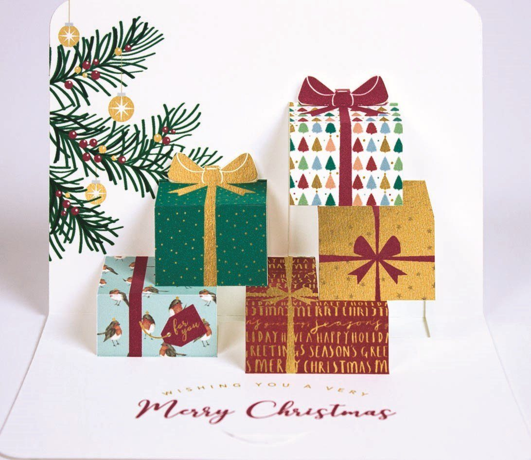 5 Pop-up Christmas Cards - Presents