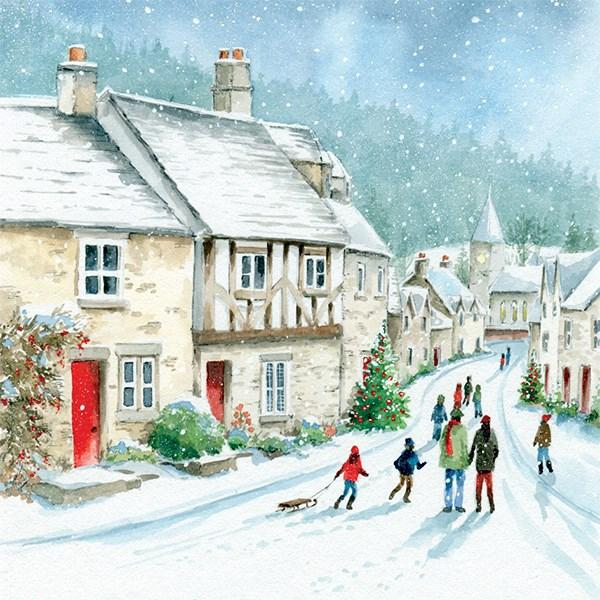 6 Charity Christmas Cards - Winter Scene