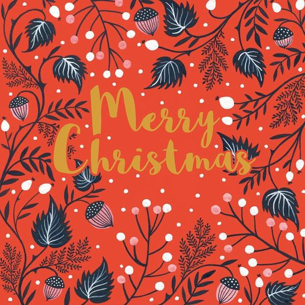 6 Charity Christmas Cards - Merry Christmas