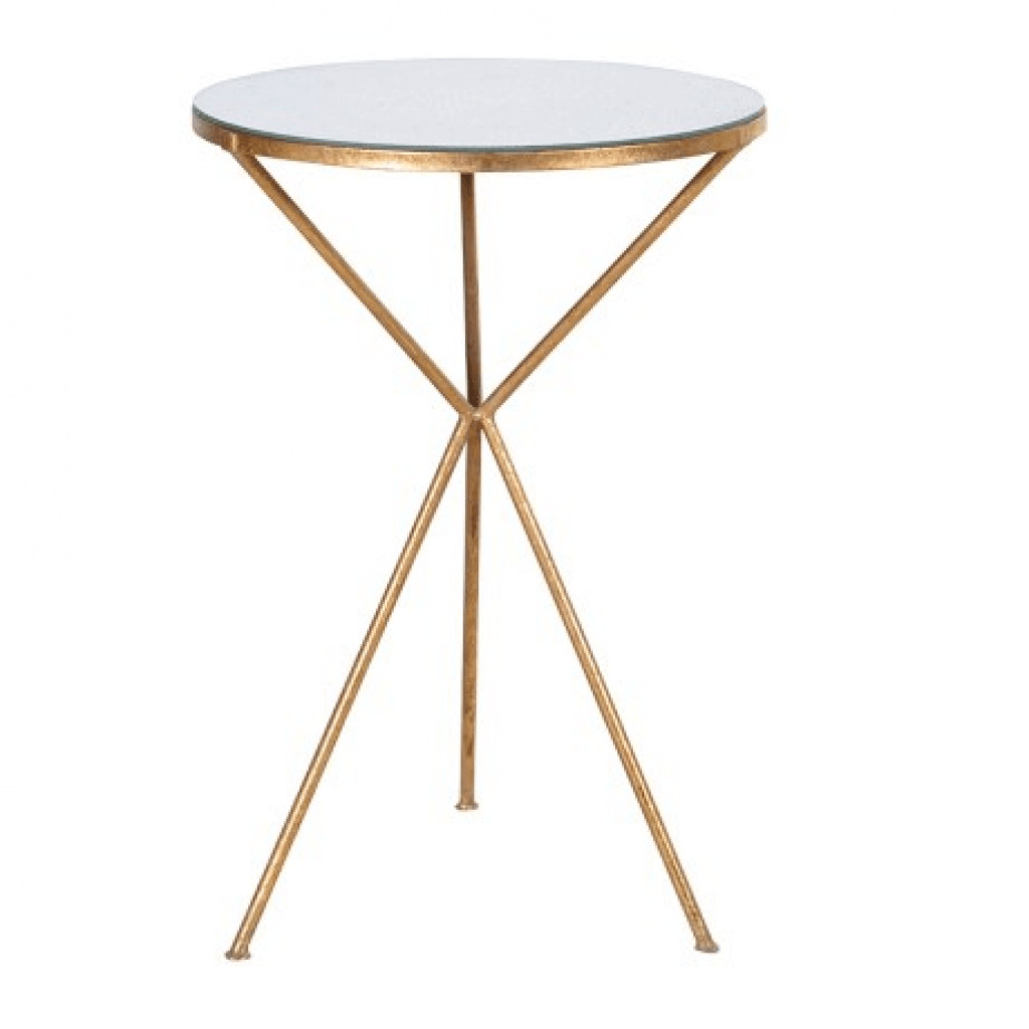 Dakota Gilt Tripod Table - Barnbury