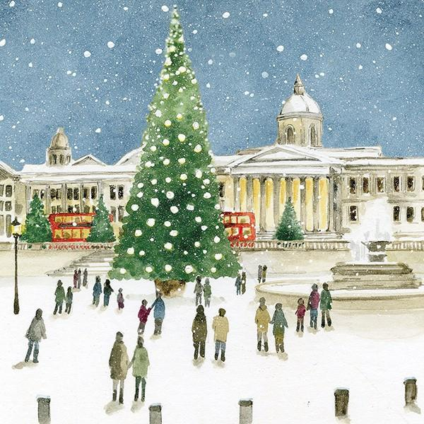 6 Charity Christmas Cards - Trafalgar Square