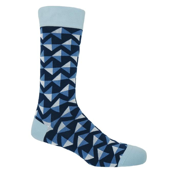 Navy Triangle Socks - Barnbury