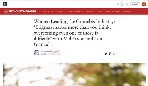 "Women Leading the Cannabis Industry: ""Stigmas matter more than you think; overcoming even one of those is difficult"" with Mel Faxon and Len Giancola 