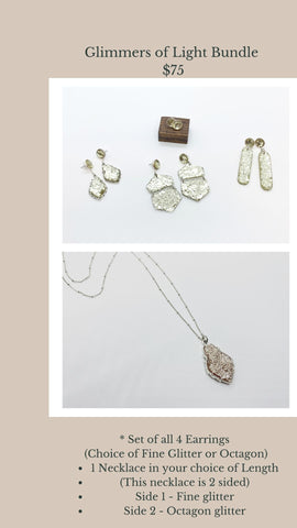 Glimmers of Light Necklace & Earrings Bundle