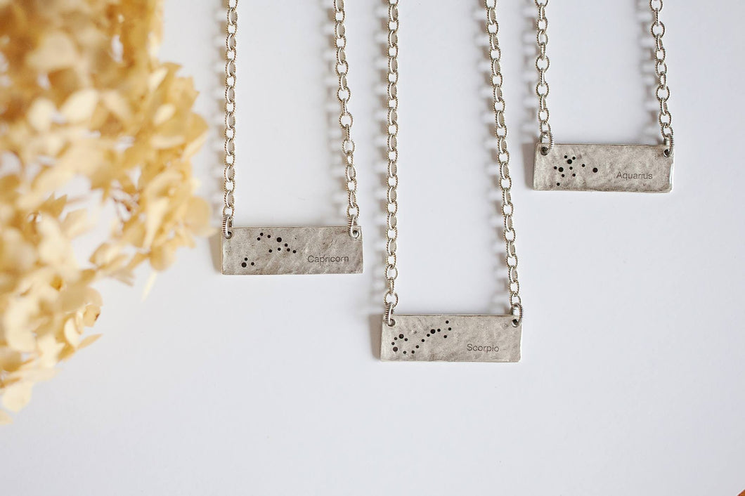 Zodiac Bar Necklace