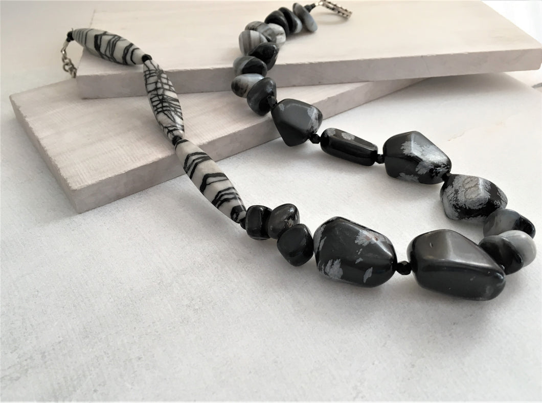 Chunky Black Necklace