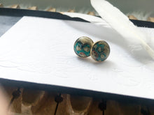 Mandala Hand Painted Stud Earrings