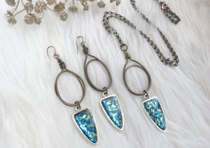 Blue & Turquoise Arrowhead Necklace or Earrings