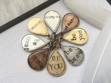 "Personalized ""Be"" Quote Teardrop Charm"
