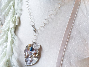 SALE!!! Blister Mother of Pearl Quote Necklace
