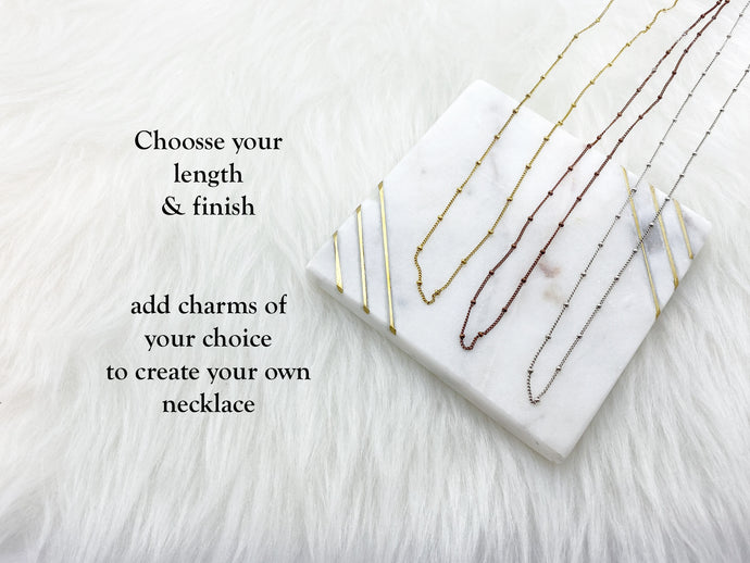 Build Your Own Necklace - Dainty Ball Chain