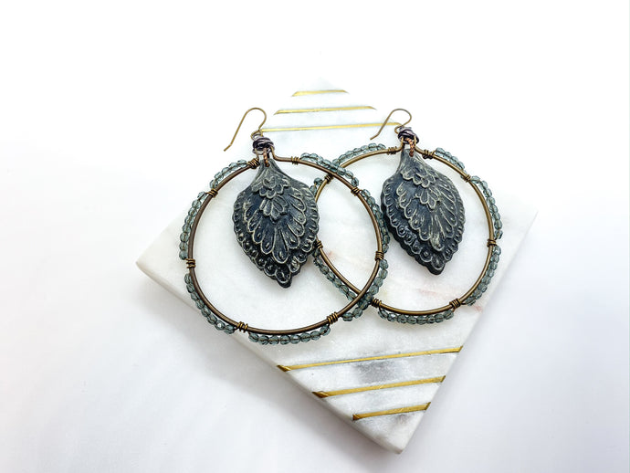 Fly with Your Own Wings Hoop Earrings