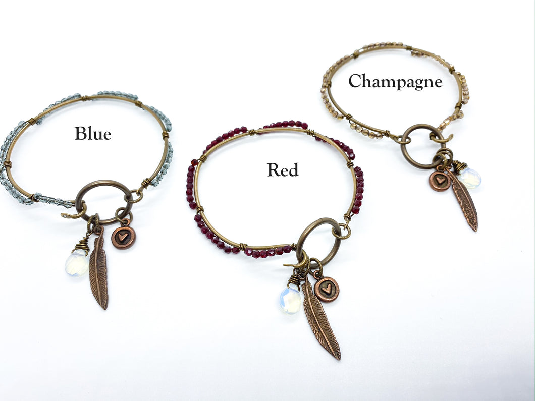 Fly with Your Own Wings Bangle Bracelets