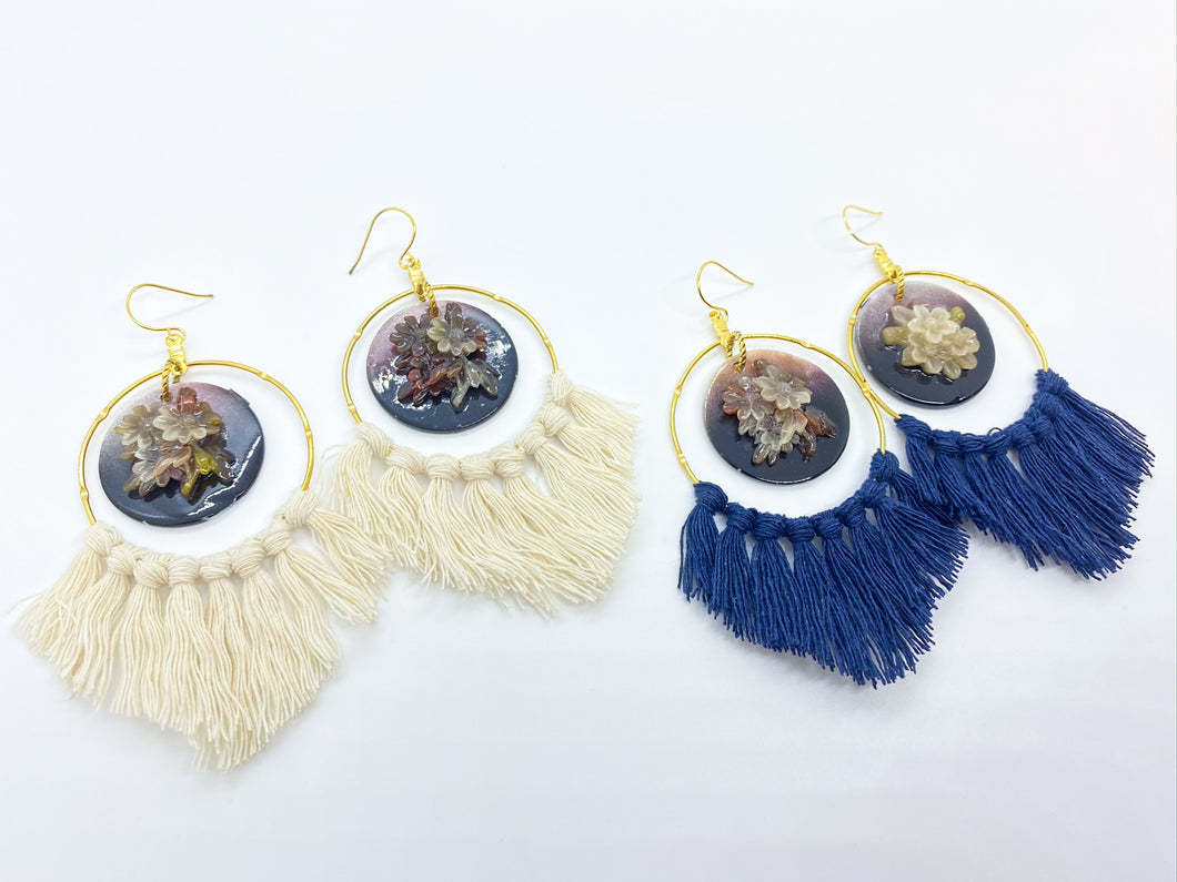 Free Spirit Tassel Hoop Earrings