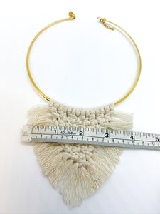 Peace in My Soul Macrame Necklace