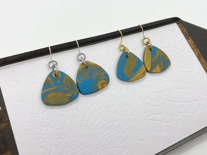 Guitar Pick Triangle Earrings