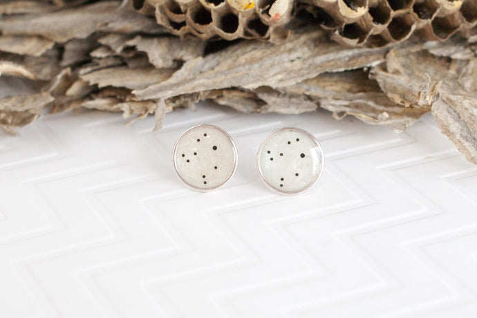 White Star Sign Studs
