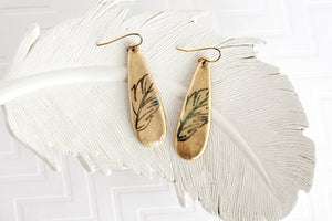Primitive Feather Earrings