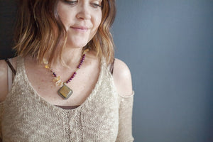 Purple & Citrine Necklace