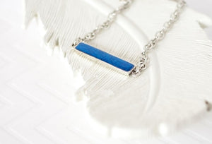 Small Solid Color Bar Necklace