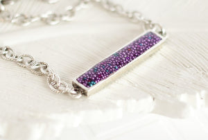 Small Faux Druzy Bar Bracelet