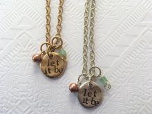 Stamped Disc Necklace