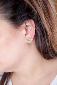 Yellow Flower Studs