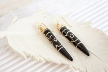 Black Tooth Earrings