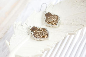 Marsala Wedding Earrings