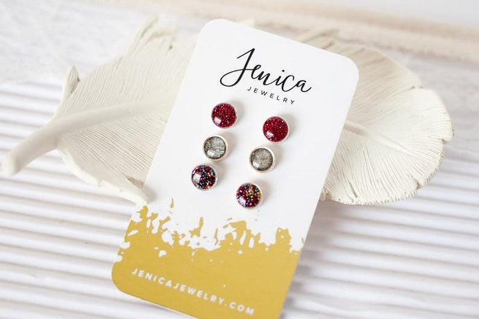 Simple Stud Earring Set