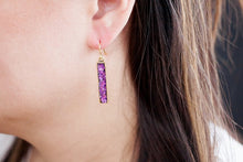Pink Glitter Bar Earrings