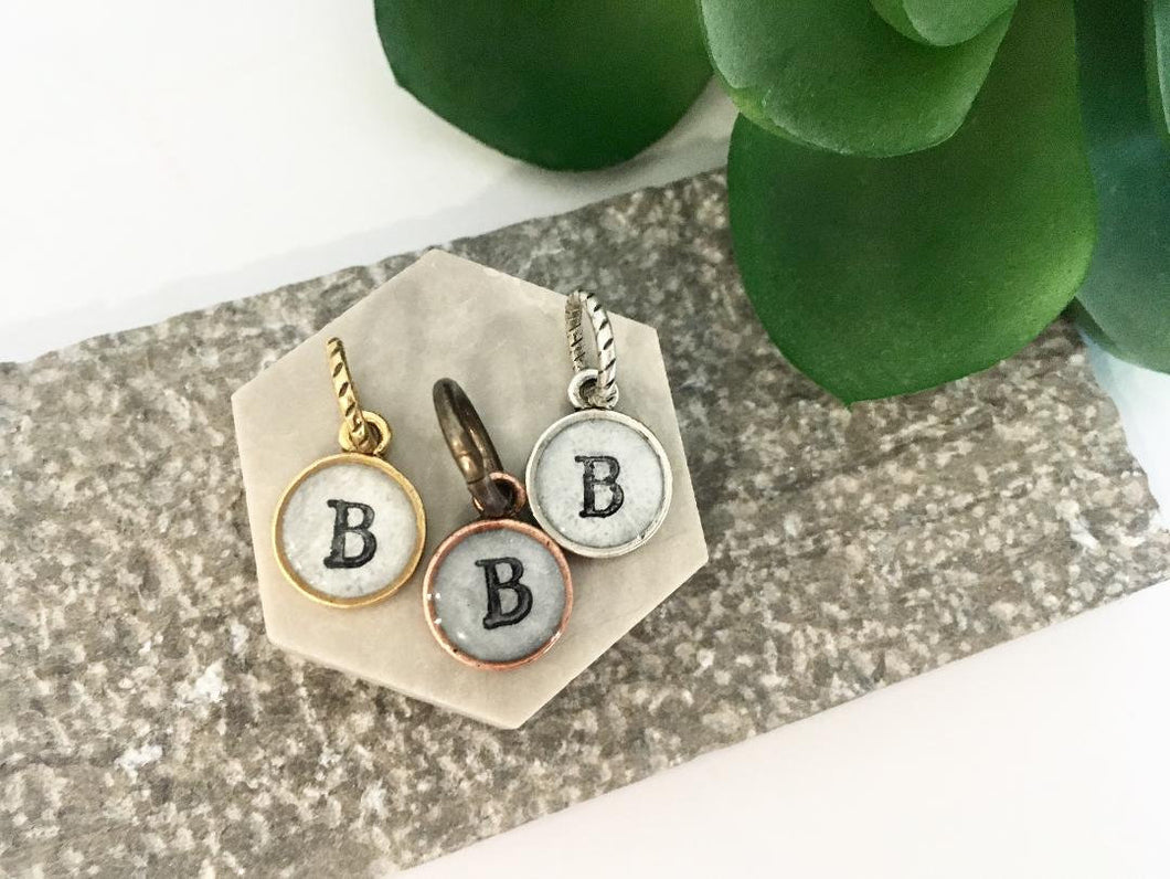 Small Uppercase Initial Charm