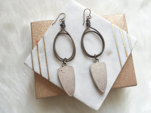 Triangle Necklace and Earrings