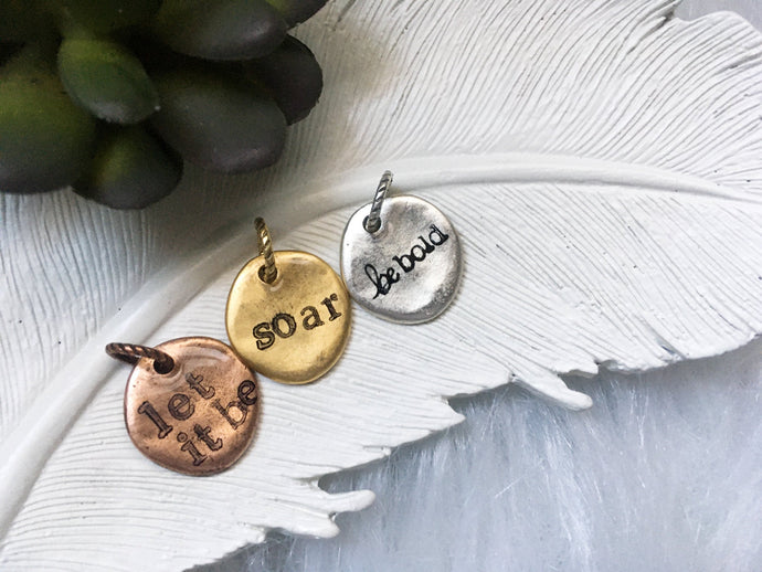 Personalized Word Charms for Bracelet