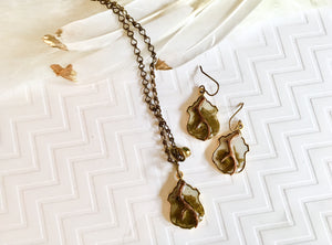 Antler Necklace & Earring Set