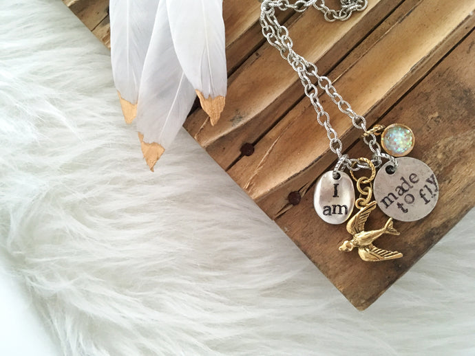 I am Made to Fly Necklace