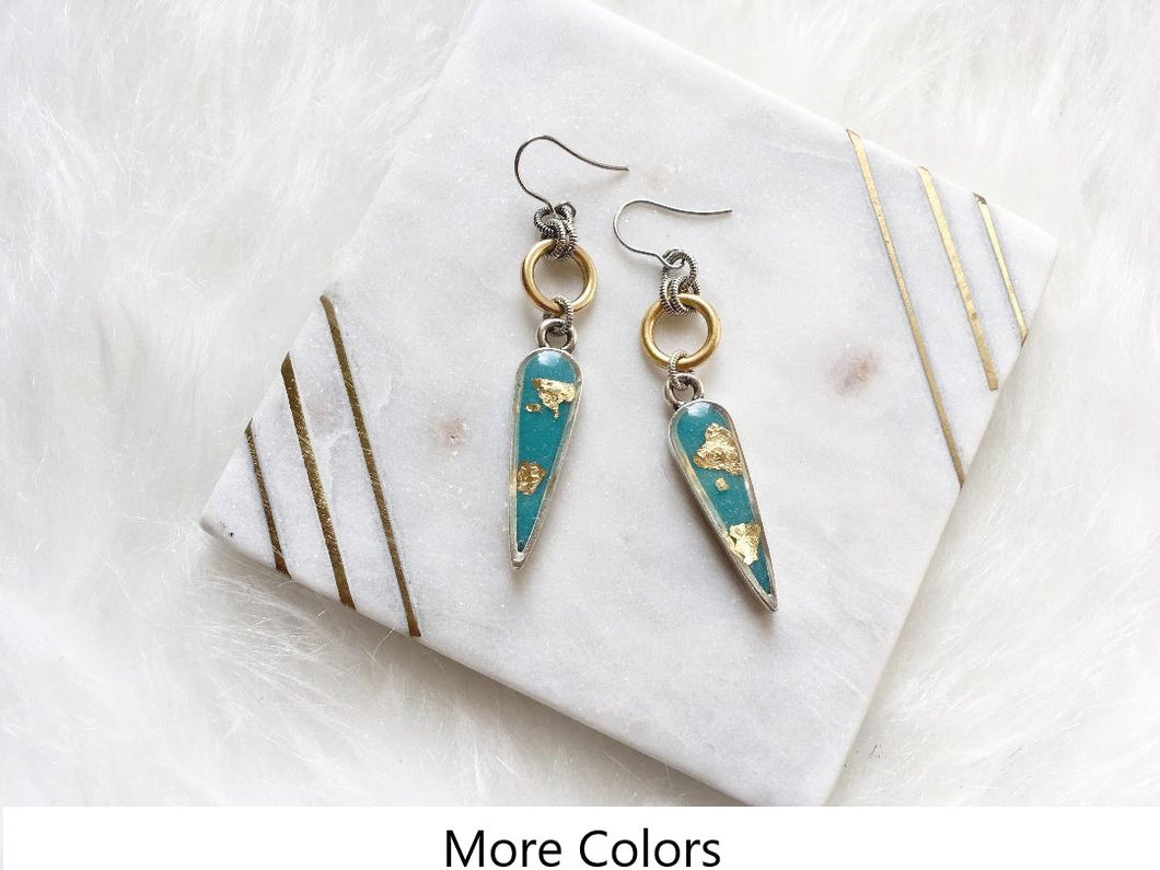 Arrowhead Spear Ring Earrings