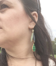 Green Geometric Earrings