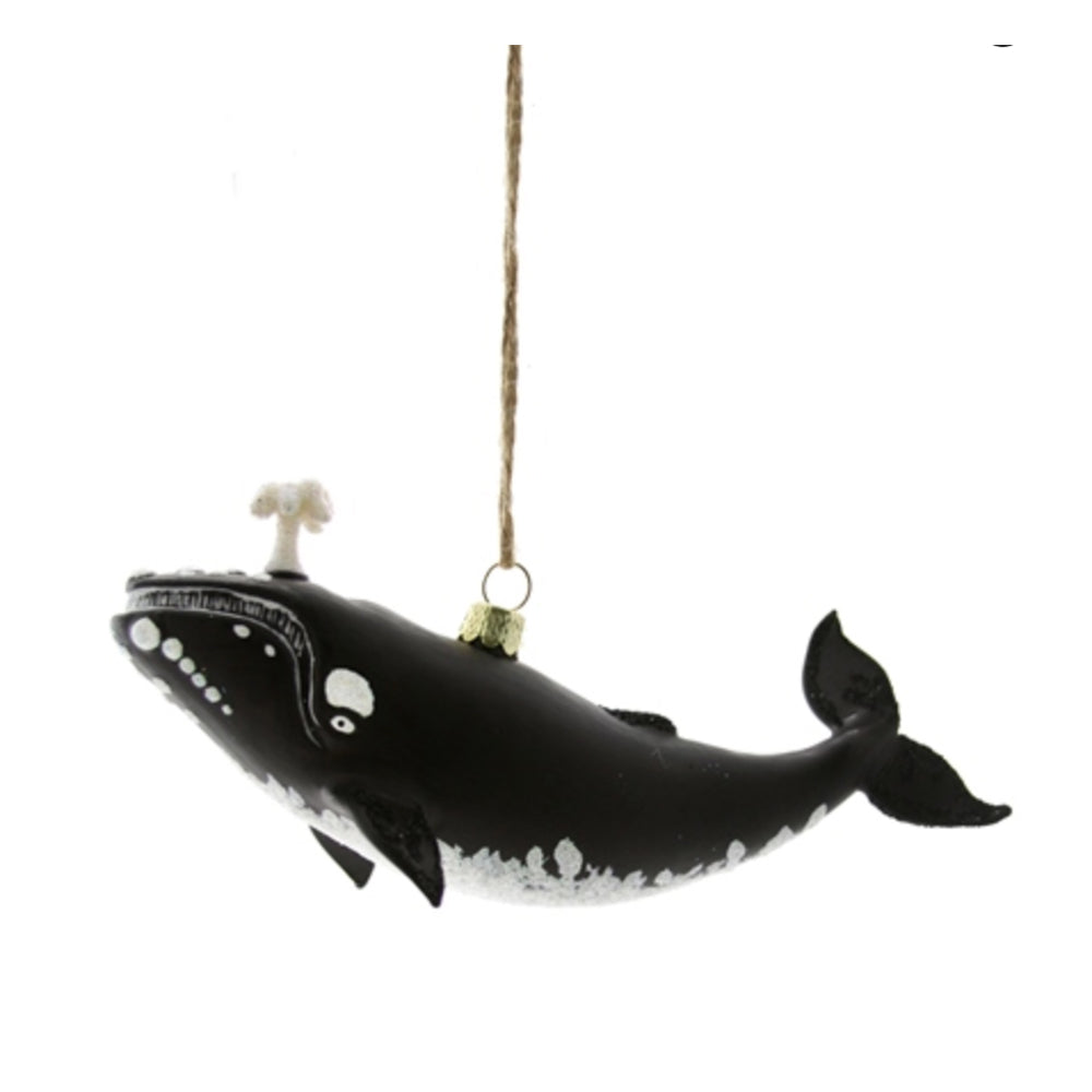 Black Whale Ornament