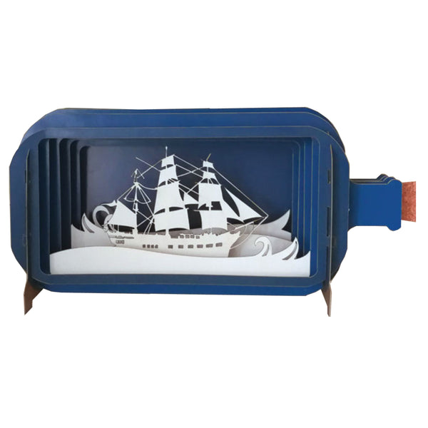 Pop Up Ship in a Bottle Card