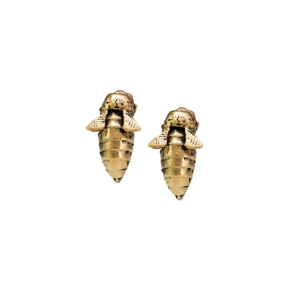 Golden Bee Studs